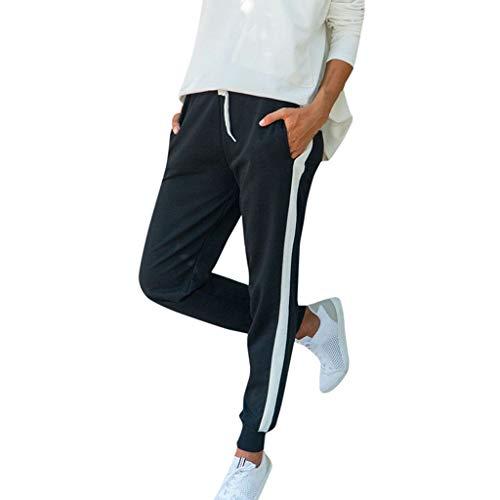 Malloom Femmes Pantalon de Sport Chic Rayure Survêtement Jogging Gym Lounge Pants 2019