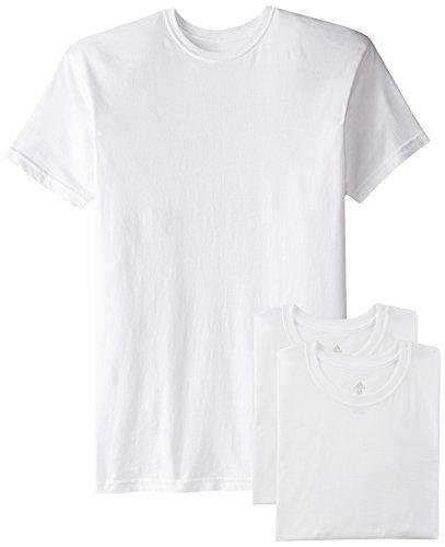 adidas Herren Athletic Comfort Crew Unterhemd (3er Pack), Herren, White White White, X-Large