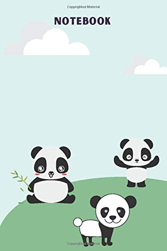 Notebook: Cute Litter Pandas Lined Notebook / Journal Gift,120 Pages, 6x9, Soft Cover, Glossy Finish ,Great Gift  for the Artist in the Family