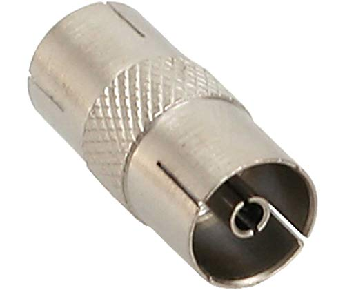 InLine® 69915S antenne coaxiale connector stekker/bus, metaal, 10-pack