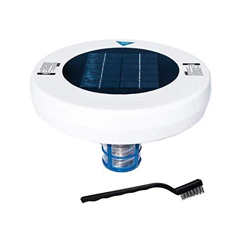 DASNTERED Ionizer Solar Pool Ionizer - Purificador de agua para el hogar al aire libre, natación, herramienta de limpieza solar, piscina, ionizador, jardín con cepillo de limpieza y manual