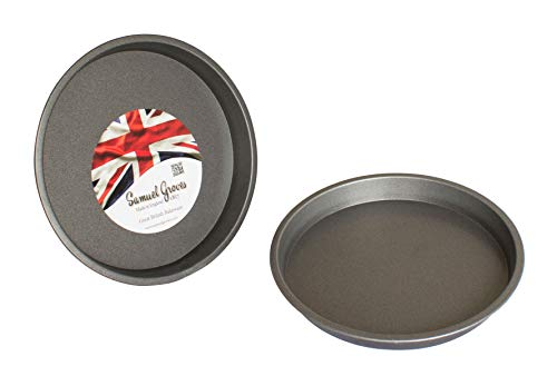 2X 8' (20cm) Victoria Sponge Sandwich Pan Cake Tin, Superior Double Coated Non Stick, Made in England