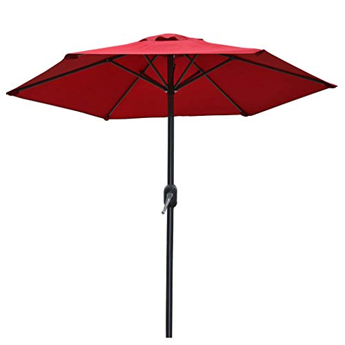 ZJDMF Balcony Parasol Round Sun Shading Garden Umbrella Patio Parasol Umbrella Prevent UV and Waterproof 6 Bone Size 2×2.35M (6.5×7.7FT)