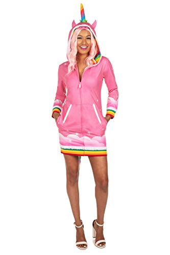 Tipsy Elves' Women's Pink Unicorn Costume Dress - Good Mythical Creature Bright Halloween Outfit Size X-Large
