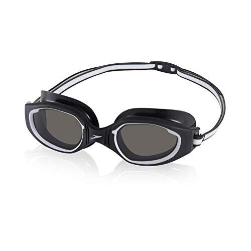 Speedo Lunettes de natation unisexes pour adulte Hydro Comfort Noir/acier Taille unique
