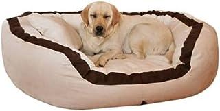 Pet Kart Ultra Soft Polly Fiber Reversible Cream Brown Egg Shape Dog/Cat Bed-Small
