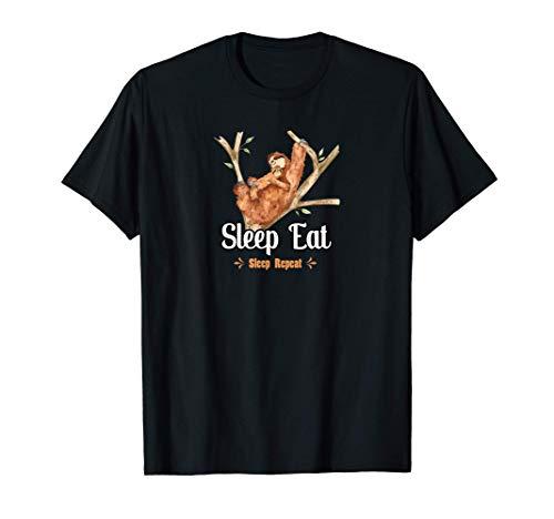 Lustiges Faultier Sloth Spruch Faulenzer Schlafanzug Schlaf T-Shirt