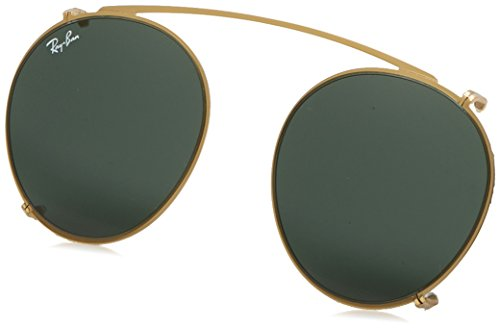 Ray-Ban RX2180C Metal Round Prescription Eyeglass Frames, Gold/Demo Lens, 47 mm
