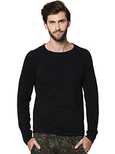 JACK & JONES Herren Jjeunion Knit Crew Neck Noos Pullover, Schwarz (Black Black), L