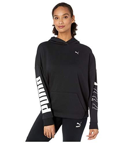 PUMA Women's Hooded Sweatshirt, Black, M
