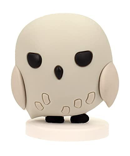 Figura de Goma Harry Potter con peana (Hedwig) 5cm Fabricados en Goma rígida Pastel Decoración Suministros