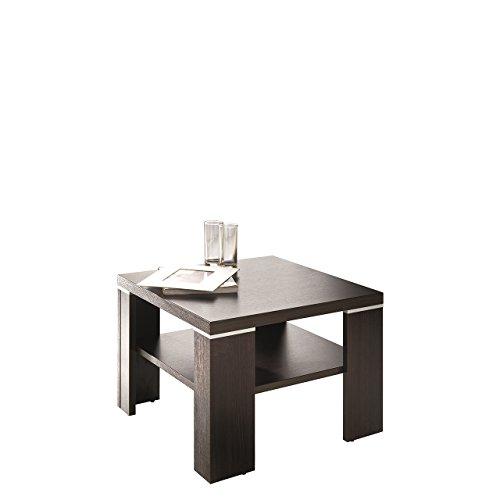 Mirjan24 Couchtisch Santana 60x60 cm, Stylischer Kaffeetisch, Sofatisch mit Ablagefach, Wohnzimmertisch, Beistelltisch Modern Stilvoll (Kastanie Wenge)