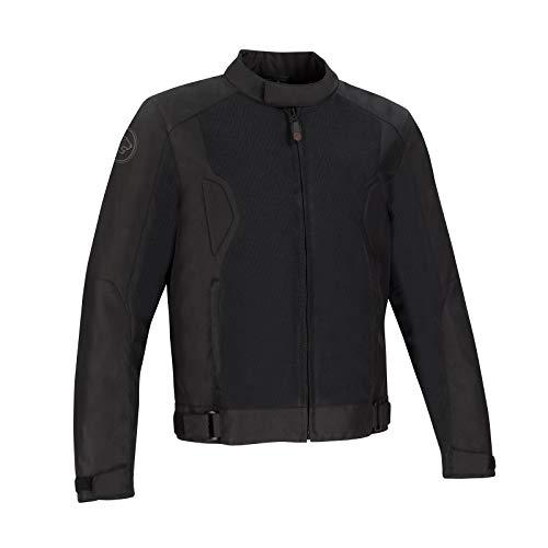 Chaqueta moto Bering RIKO Negro, Negro, L
