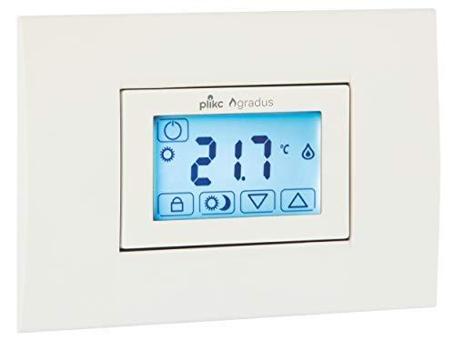 Termostato Touch Screen da Incasso a Batterie - Plikc Gradus - PLK267609