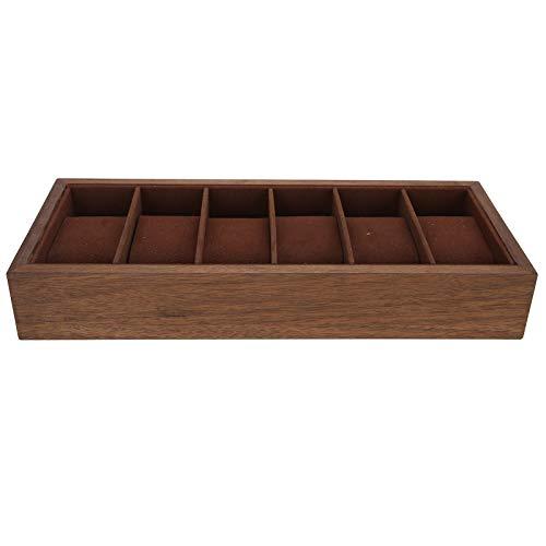 Caja de presentación de reloj de madera de 6 rejillas Caja de almacenamiento simple para el arte del organizador de la colección de relojes