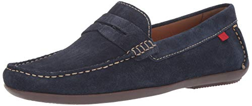 Marc Joseph New York Mens Genuine Leather Union Street Driver Driving Style Loafer navy suede 11 D(M) US