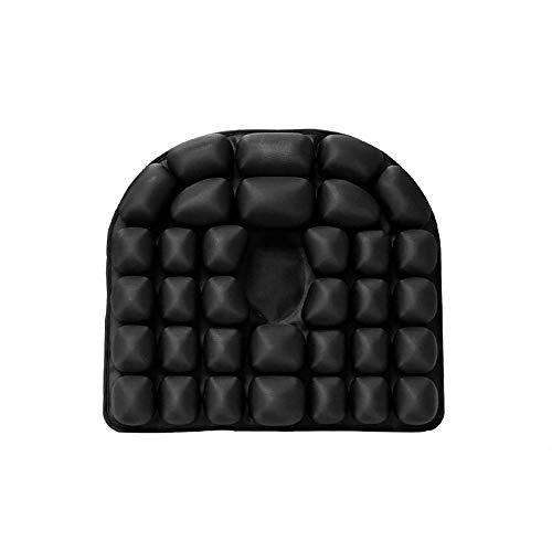 NHVF Seat Cushion Hemorrhoids Postoperative Cushion Tail Vertebra Decompression Nursing Air Cushion Office Beautiful Buttocks Pregnant Suitable For Home Office (Color : Black, Size : 45x40cm)