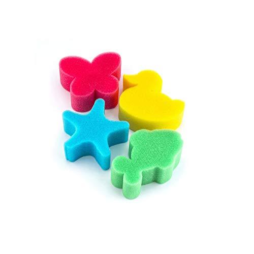 York Ein Set mit 4 Mini Schaumbadeschwämmen macht jedes Bad noch angenehmer