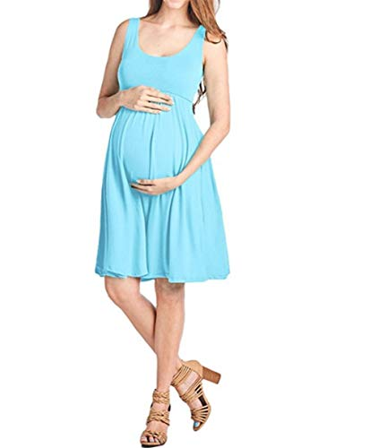 FEIFUSHIDIAN Capuche Femme Gilet Slim Col Rond Robe Femmes Enceintes Mis sur Une Grande Étendue Bloquer Pull-up ( Color : Light Blue , Size : XL )