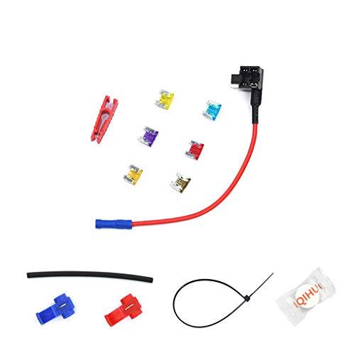 Shangjunol 6pcs / Set Mini Holder Tamaño de Coches para añadir un Circuito de fusibles Tap Adaptador de 12V del Coche Add-a-Circuito Fusible Adaptador Portafusibles