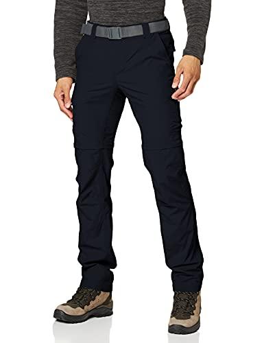 Columbia Silver Ridge II Pantalones de Senderismo Convertibles, Hombre, Negro (Abyss), 28 32