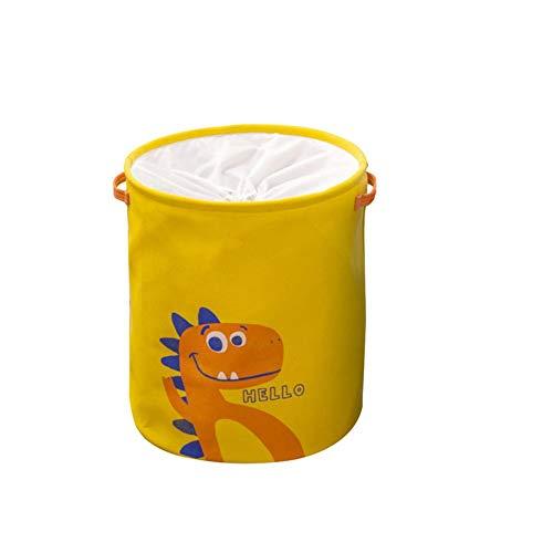 Cubo amarillo Plegable de Lino y algodón