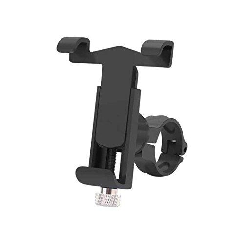 HCFKJ 360 ° Drehen Fahrrad Fahrrad Telefon Halterung Halter Clip Lenker Telefon Halter (SCHWARZ)
