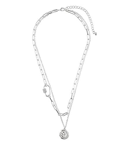 SIX Collar de capas con diamantes de imitación y diseño de estrella para mujer (804-202)