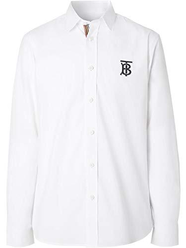 BURBERRY Luxury Fashion Herren 8023460 Weiss Hemd | Jahreszeit Permanent
