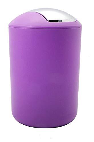 Diversi Colori a Scelta Pattumiera Bagno Basculante Bin Cestino Spazzatura Bagno 3L (Viola)