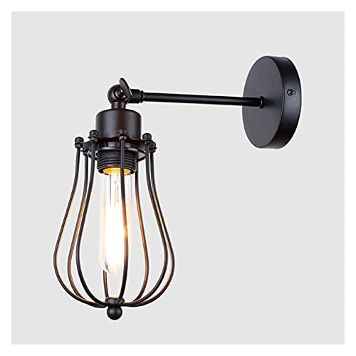 lámpara de pared Lámpara de pared de la vendimia Lámparas de noche de luz interior americana Aisle Dormitorio de escono industrial para la iluminación del hogar 11 0V / 220V E27 luz de pared iluminaci