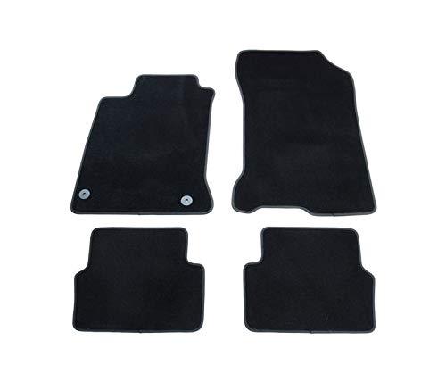 Alfombrillas negras VD330 para todo tipo de clima, sin olor, terciopelo, 4 piezas, compatibles con Renault Laguna tipo III 2007 2008 2009 2010 2011 2012 2013 2014 2015