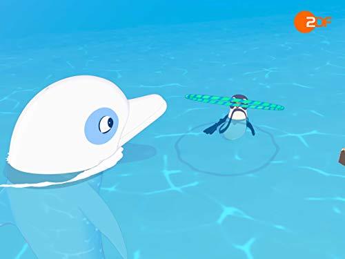 Ein Pinguin auf der Flucht