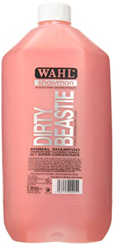 Wahl Dog Shampoo Dirty Beastie Showman Shampoo for Pets 5 Litre Concentrate/75 Litre Diluted