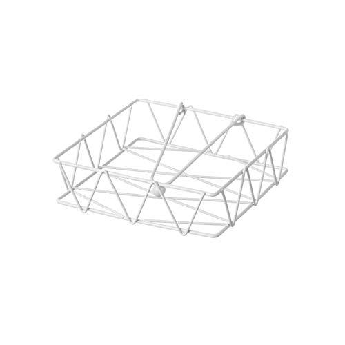 D,casa - Servilletero Metal Blanco para Cocina Fantasy