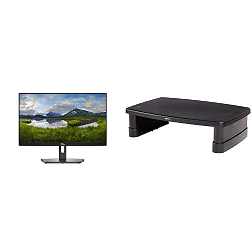 Dell SE2219H 21.5 Inch IPS LED-backlit LCD 2019 Monitor - (Black) (5 ms Response Time, FHD 1920 x 1080 at 60 Hz, Thin Bezel, Tilt, HDMI, VGA) & AmazonBasics Adjustable Monitor Stand