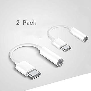Jack USB C, Adaptadores de Audio de USB Tipo C a Auricular de 3,5 mm, Cable Adaptador Convertidor de USB C Audio para Huaw...