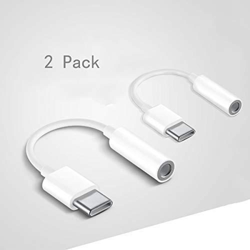 Jack USB C, Adaptadores de Audio de USB Tipo C a Auricular de 3,5 mm, Cable Adaptador Convertidor de USB C Audio para Huawei P20/P20 Pro/P30/P30 Pro, Xiaomi 6/8, Mix 2/3, OnePlus6T