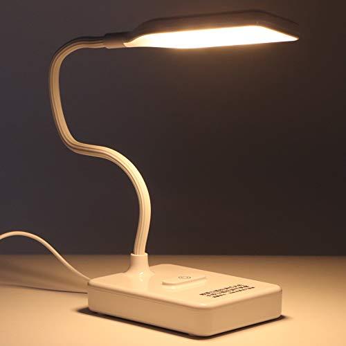 Lámpara De Mesa De Escritorio LED para El Hogar Lámpara De Mesa Ajustable del Dormitorio De La Oficina (Enchufe) Lámpara De Mesa Blanca