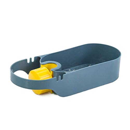 DFBGL Accesorios de Cocina Organizador de Utensilios Fregadero a presión Ajustable Soporte de Esponja de jabón Cesta de desagüe Colgante de Cocina Aparatos de Cocina (Color: Azul)