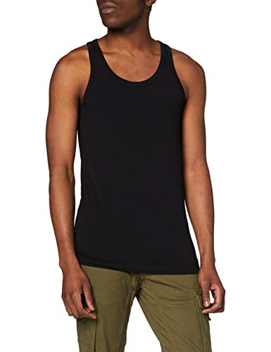 Jack & Jones Basic Tank Top - Camiseta de tirantes con cuello redondo sin mangas para hombre, Negro (Black C-N10), Medium