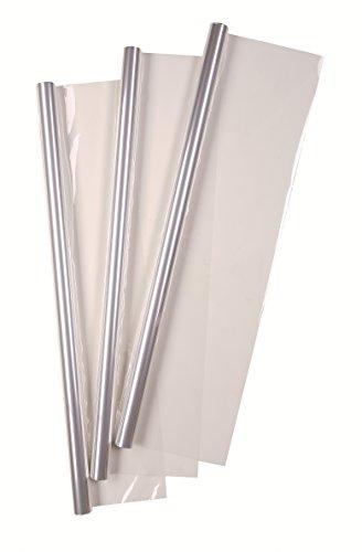 Idena 433085 - Geschenkfolie, Transparent, Größe ca. 5m x 70 cm, Blumenfolie, Geschenkpapier, Folienrolle, Verpackung
