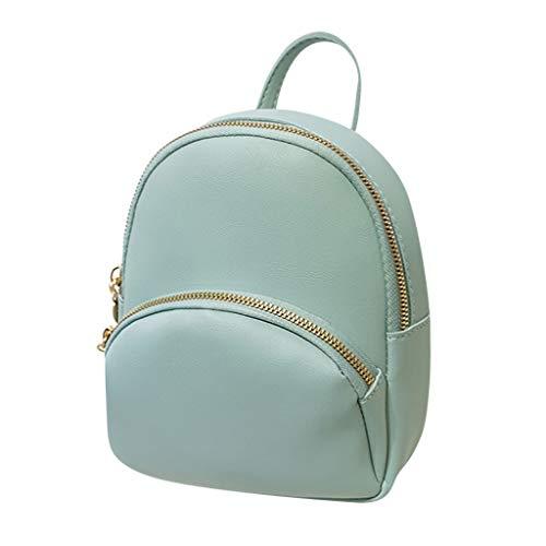 TAMALLU Bag Mode Rucksack Frauen Umhängetasche Kleine Einfarbig Geldbörse Umhängetasche(Blau)