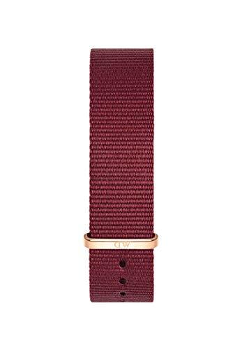 Daniel Wellington Classic Roselyn, Correa Rojo/Oro Rosado, 20mm, NATO, para Hombre