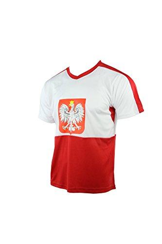 MC-Trend Polen Polska Poland Pologne Polonia Trikot mit Mesh-Einsätzen, Unisex, Gr. S