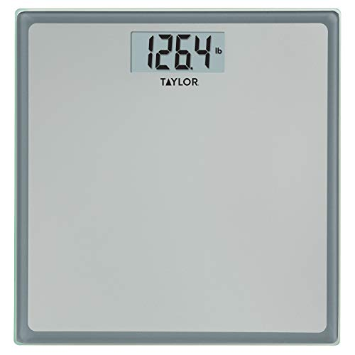 Taylor Precision Products Digital 400 lb capacity Bathroom Scale , Grey With Blue Border