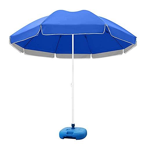 HXCD Paraguas Grande de jardín de 216 cm, sombrilla de Gran tamaño, Soporte para Exteriores, sombrilla de Patio Grande, sombrilla Redonda para Publicidad, Dosel Plegable
