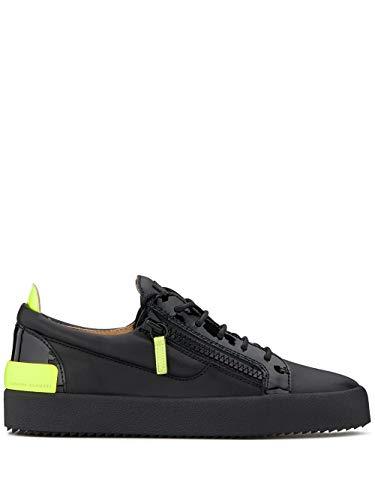 Giuseppe Zanotti Luxury Fashion Design Herren RU90072001 Schwarz Leder Sneakers | Herbst Winter 19