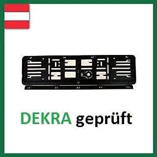 Amazon.es: Wechsel-Kennzeichenrahmen-System - Marco Cambiador de números de matrícula (Austria, para 2 vehículos, 12 x 52 cm, 4 Unidades), Color Negro
