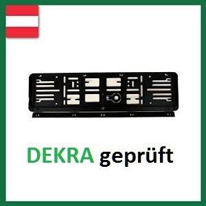 Wechsel-Kennzeichenrahmen-Österreich 4X (120X520) schwarz, für 2 Kfz.